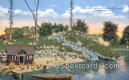 Monkey Island - MIlwaukee, Wisconsin WI Postcard