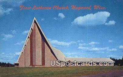 First Lutheran Church - Hayward, Wisconsin WI Postcard