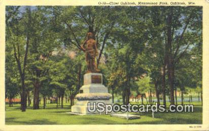 Chief Oshkosh, Menominee Park - Wisconsin WI Postcard
