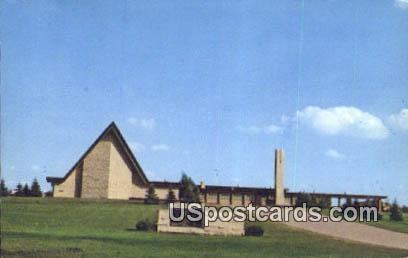 Cross Lutheran Church - Burlington, Wisconsin WI Postcard