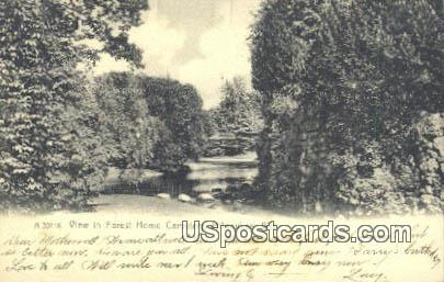 Forest Home Cemetery - MIlwaukee, Wisconsin WI Postcard