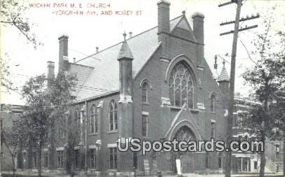 Wicker Park ME Church - Misc, Wisconsin WI Postcard