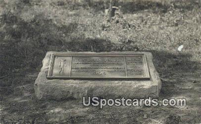 Real Photo - Man Mound Park, Wisconsin WI Postcard