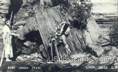 Real Photo - Baby Grand Piano - Lower Dells, Wisconsin WI Postcard