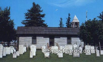 Original Log Church, Swiss Historical Village - New Glarus, Wisconsin WI Postcard