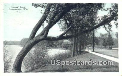 Lover's Lane - Oconomowoc, Wisconsin WI Postcard