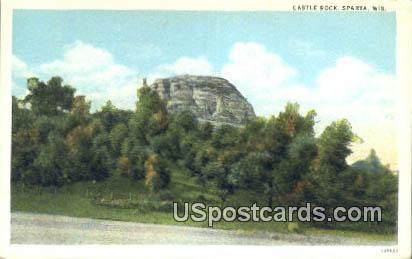 Castle Rock - Sparta, Wisconsin WI Postcard