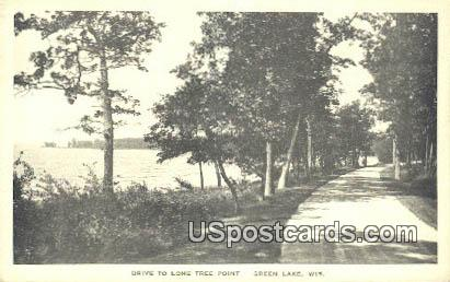 Drive, Lone Tree Point - Green Lake, Wisconsin WI Postcard