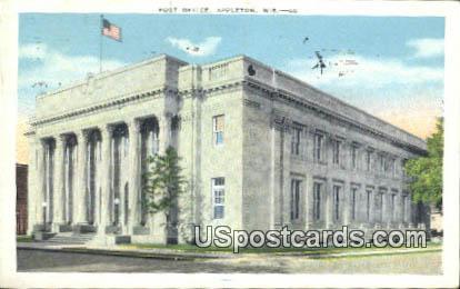 Post Office - Appleton, Wisconsin WI Postcard