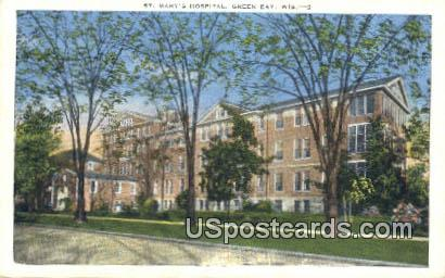 St Mary's Hospital - Green Bay, Wisconsin WI Postcard