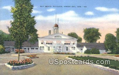 Bay Beach Pavilion - Green Bay, Wisconsin WI Postcard