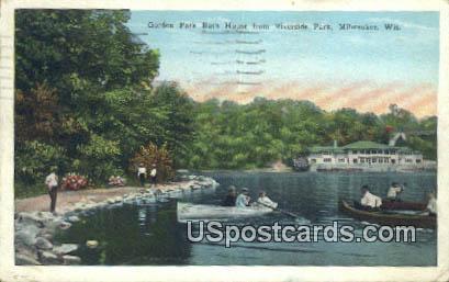 Gordon Park Bath House - MIlwaukee, Wisconsin WI Postcard