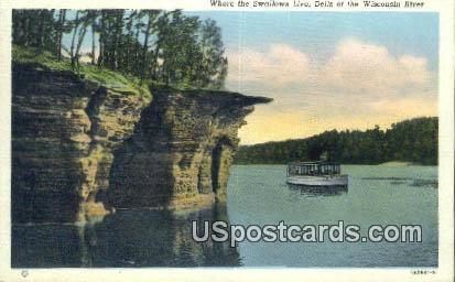 Swallows Live - Dells Of The Wisconsin River Postcards, Wisconsin WI Postcard