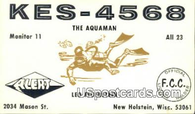 KES-4568, Aquaman - New Holstein, Wisconsin WI Postcard