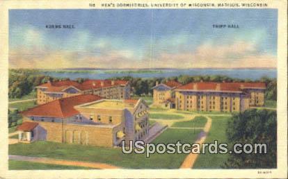 Men's Dormitories, University of Wisconsin - Madison Postcard
