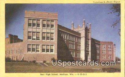 East High School - Madison, Wisconsin WI Postcard