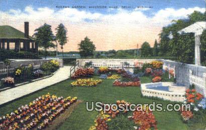 Sunken Garden, Riverside Park - Beloit, Wisconsin WI Postcard