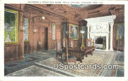 Governor's Reception Room, State Capitol - Madison, Wisconsin WI Postcard