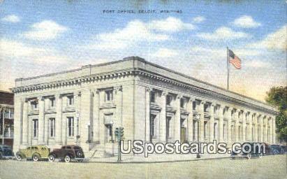 Post Office - Beloit, Wisconsin WI Postcard