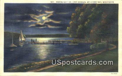 Lake Geneva - Williams Bay, Wisconsin WI Postcard