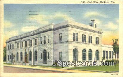 Post Office - Oshkosh, Wisconsin WI Postcard