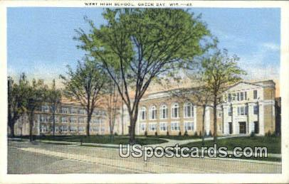 West High School - Green Bay, Wisconsin WI Postcard