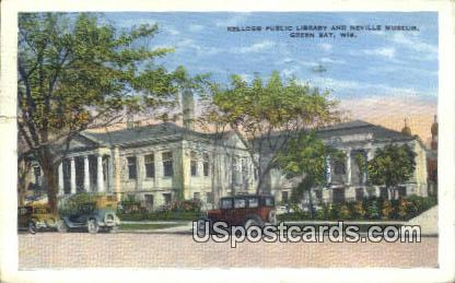 Kellogg Public Library & Neville Museum - Green Bay, Wisconsin WI Postcard