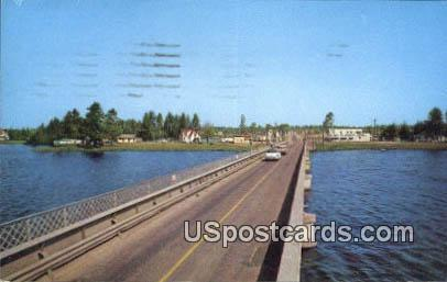 Bridge on US 51 - Tomahawk, Wisconsin WI Postcard