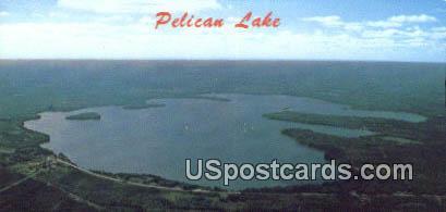 Pelican Lake, WI Postcard      ;      Pelican Lake, Wisconsin