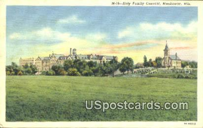 Holy Family Convent - Manitowoc, Wisconsin WI Postcard