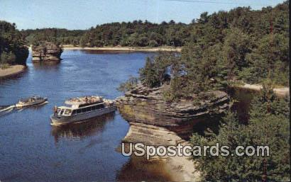 Lower Dells Rocky Island - Wisconsin Dells Postcards, Wisconsin WI Postcard