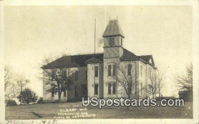 Real Photo - High School - Albany, Wisconsin WI Postcard