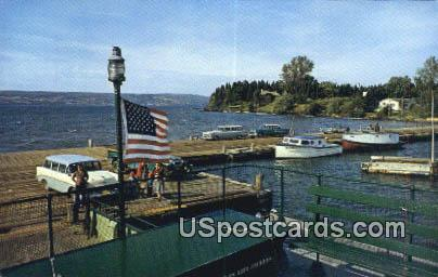 La Pointe Dock & Harbor - Madeline Island, Wisconsin WI Postcard