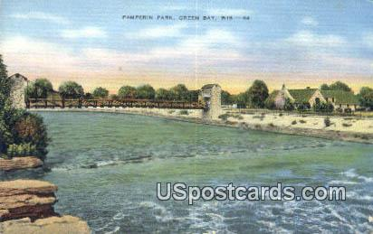Pamperin Park - Green Bay, Wisconsin WI Postcard