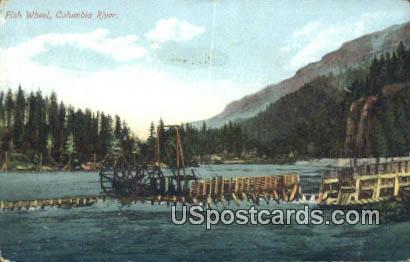 Fish Wheel - Columbia River, Wisconsin WI Postcard