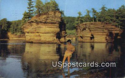 Rocky Island Region - Wisconsin River Postcards, Wisconsin WI Postcard