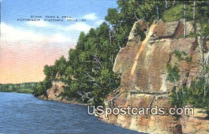 Black Hawk's Head - Wisconsin Dells Postcards, Wisconsin WI Postcard