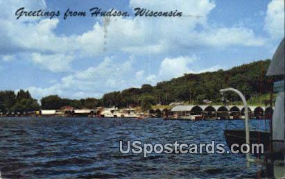 Hudson Marine - Wisconsin WI Postcard