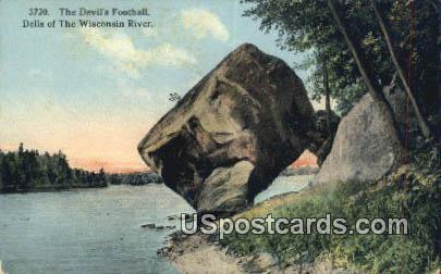 Devil's Football - Dells Of The Wisconsin River Postcards, Wisconsin WI Postcard