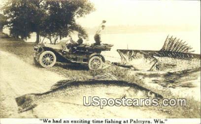 Fishing - Palmyra, Wisconsin WI Postcard