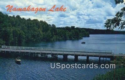 Fishing, Upper Bridge - Chequamegon National Forest, Wisconsin WI Postcard