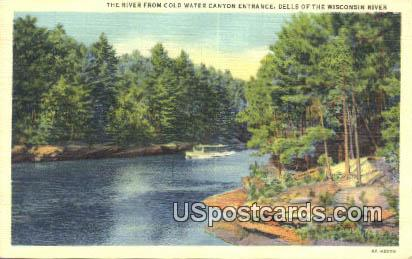 River, Cold Water Canyon - Dells Of The Wisconsin River Postcards, Wisconsin WI Postcard