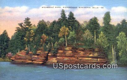 Steamboat Rock - Wisconsin Dells Postcards, Wisconsin WI Postcard