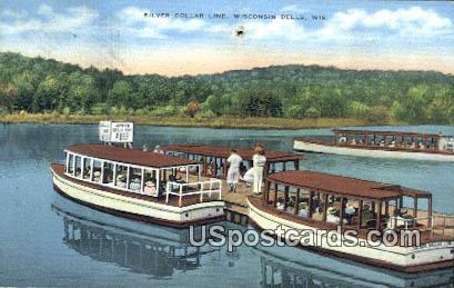 Silver Dollar Line - Wisconsin Dells Postcards, Wisconsin WI Postcard