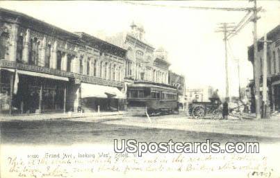 Grand Avenue - Beloit, Wisconsin WI Postcard