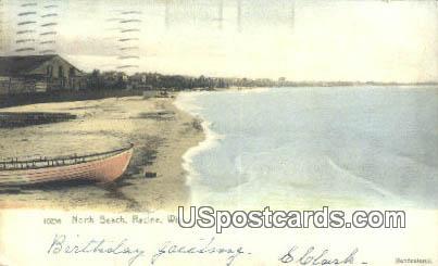 North Beach - Racine, Wisconsin WI Postcard