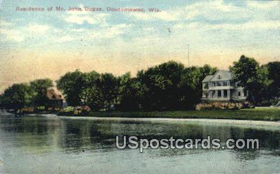 Residence of Mr John Dupee - Oconomowoc, Wisconsin WI Postcard