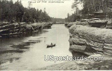 Dells Of The Wisconsin River, Wisconsin Postcard      ;      Dells Of The Wisconsin River, WI Post C - Dells Of The Wisconsin River Postcards