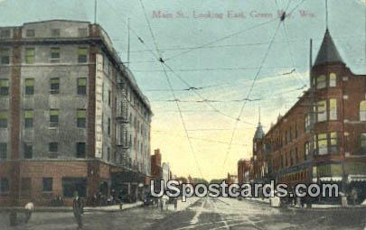 Main Street - Green Bay, Wisconsin WI Postcard