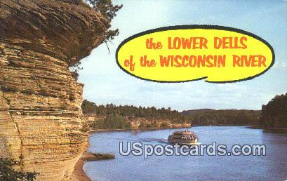 Lower Dells of the Wisconsin River, Wis Postcard      ;      Lower Dells of the Wisconsin River, Wis - Lower Dells of the Wisconsin River Postcards